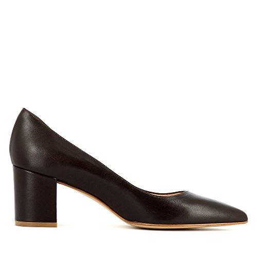 Zapatos vestir Shoes de para marrón Piel oscuro Romina de mujer Evita IwgqdxCx