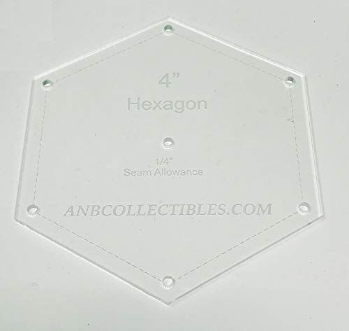 8.25 Choice of Size Acrylic Hexagon Quilt Template