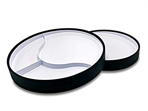 STAYnEAT Suction Plates, 2 Sided, Sloped & Divided w/Scoop Wall for Toddlers - Adults, White (Lg)