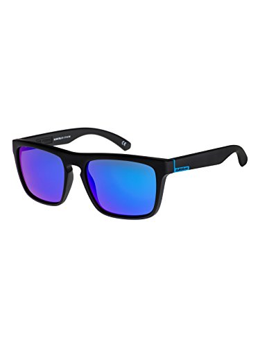Quiksilver EQS1127 Men's The Ferris Sunglasses, Black Matte/Blue Ch - - Sunglass Quicksilver