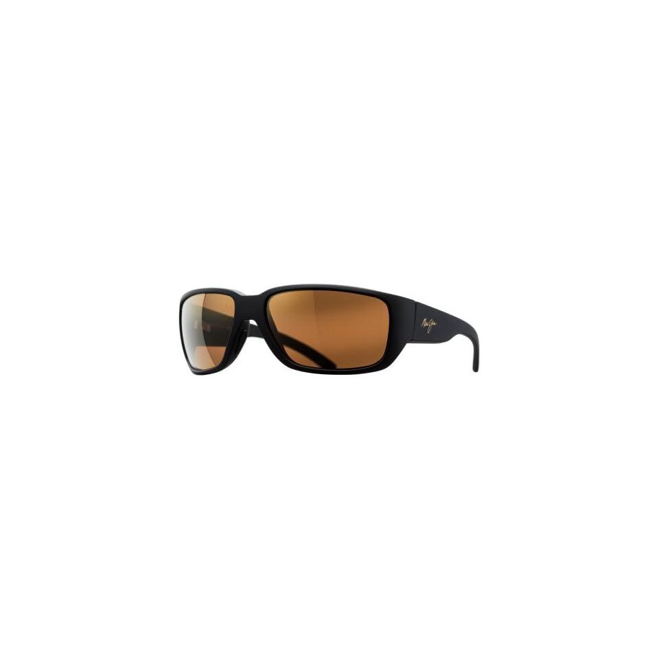 Maui Jim Seawall Sunglasses   Polarized Matte Black Rubber/HCL Bronze, One Size   Mens