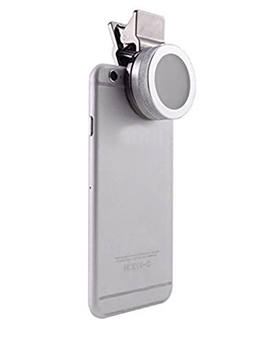 Taousa 70119 Universal Led Fill-in Light Clip-On Portable Mini Pocket Spotlight, for iPhone, iPad, iPod, Samsung, HTC, Tablets Camera Video Light, Adjustable 3 stage Brightness, Color Silver by Taousa