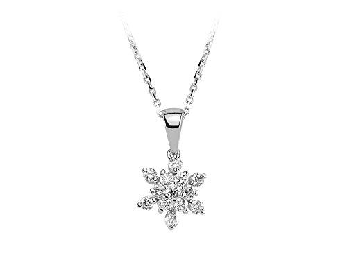 Pendentif Diamants-Femme- or Blanc 204P0066