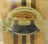 Ulu Knife with Cutting Block