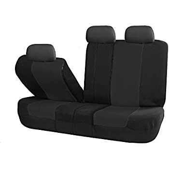 FH Group FB051BLACK013 Black Universal Split Bench Seat Cover Allow Right And Left 40 60 50 Fit Most Of Vehicle