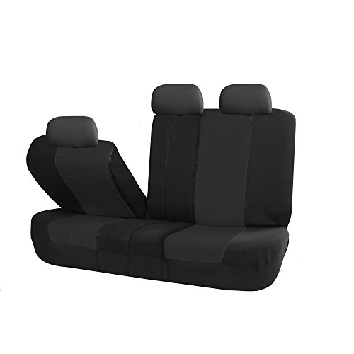 FH Group FB051BLACK013 Black Universal Split Bench Seat Cover (Allow Right and left 40/60 Split, 50/50 Split Fit Most of (Split Front Bench Seat)
