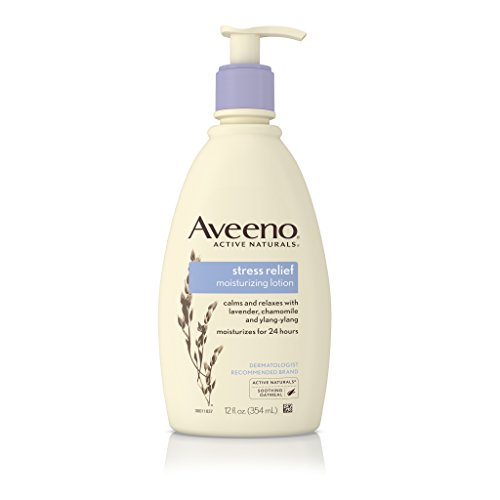 Aromatherapy Moisturizing Body Lotion (Aveeno Stress Relief Moisturizing Lotion To Calm And Relax, 12 Fl. Oz)