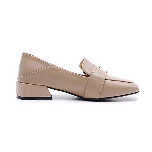 Tacón Uretano Con Mujer Para Zapatos De Fritas 1to9 Mms06655 Costuras Caqui xwYXI0Xt