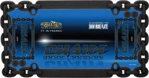 Cruiser Accessories 20500 Chain License Plate Frame, Flat Black w/fastener caps