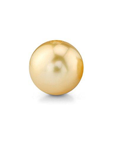 Genuine Single Golden South Sea Undrilled Round Loose Cultured Pearl - AAA - Round Pearl Golden South Sea