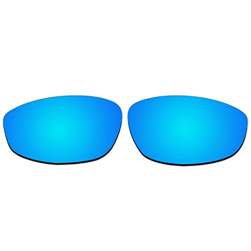 67e07acff7 acompatible gafas de sol lentes de repuesto para Oakley Whisker, Ice Blue  Mirror - Polarized