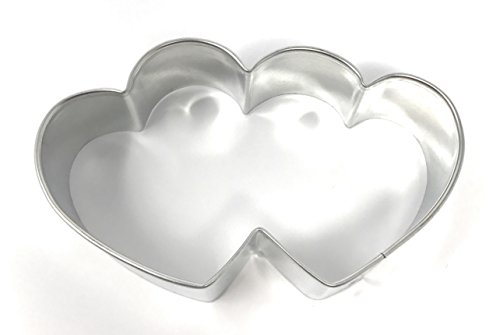 Ultimate Baker Small Double Heart Metal Cookie Cutter (1x3.5
