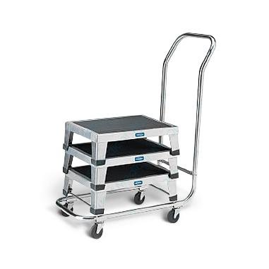 Pedigo Products Inc Stainless Steel Cart, Transport, Holds 6 Footstool