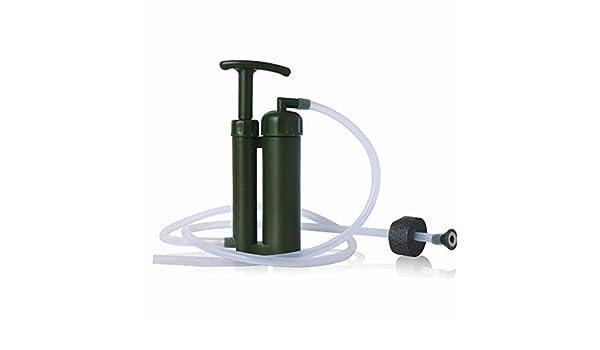 No Logo Soldado portátil de cerámica del Filtro purificador de Agua, Limpiador for Supervivencia al Aire Libre Que va de excursión de la Bomba de Emergencia Purificar: Amazon.es: Deportes y aire libre