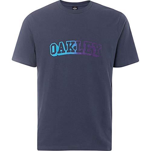 Oakley Mens Men's Oakley Logo TEE, Foggy Blue, L (Oakley Radar-rahmen)