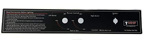 Modernhome MHP Gas Grill JNR Control Panel Black Label 17 3/4