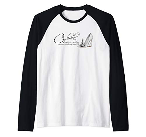Cinderella Quote. A New Pair of Shoes Can Change Your Life Raglan Baseball Tee