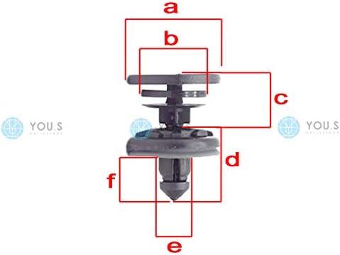 10 x YOU.S Original Innenverkleidung Montage Spreiznieten 7L6868243 Loch /Ø 8 mm
