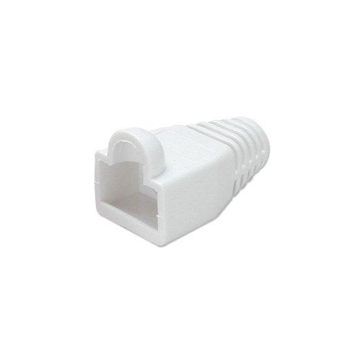 Lindy - Fundas para conectores RJ45 (10 unidades), color blanco