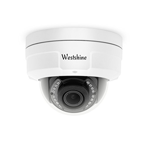 Westshine Security CCTV Dome Camera 1080P 2.8-12mm Varifocal Lens Vandal-Proof Dome Camera 4-in-1 AHD/TVI/CVI/CVBS Camera with OSD Menu Night Vision Home Indoor Outdoor Cameras ()