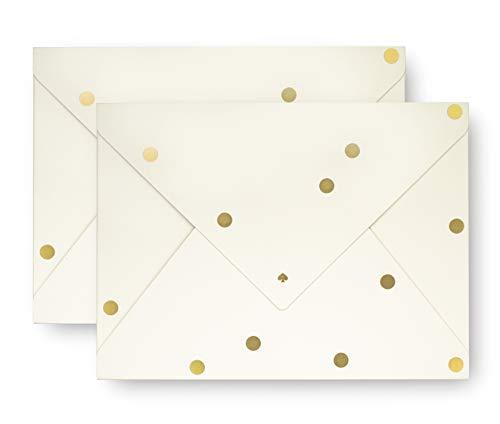 (Kate Spade New York Envelope Folio File Folder, Set of 2 (Gold Dot))
