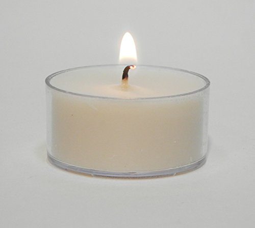 Candeo Candle 12 Soy Tea Lights Unscented Clear Cup (Soy Candle Tea Lights)