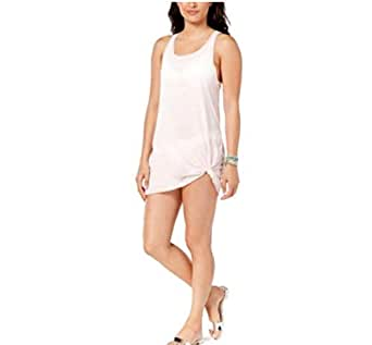Miken Sheer Tank Swimwear Cover Up Dress at Amazon Women's