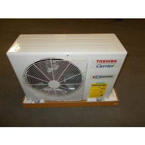 Toshiba/Carrier RAS-12EAV2-UL 12,000 BTU Outdoor Single Zone Mini-Split Heat Pump 12,000 BTU Outdoor Single Zone Mini-Split Heat Pump AIR Conditioner with Base PAN Heater, 23 SEER 208-230/60/1 R-410A ()