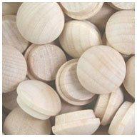 WIDGETCO 1/2'' Maple Button Top Wood Plugs