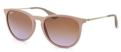 Ray-Ban Erika RB 4171 Sunglasses Dark Rubber Sand / Brown Gradient 54mm & HDO Cleaning Carekit - Erika 4171 Rb
