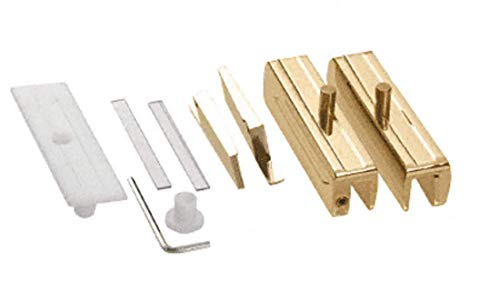 - CRL Brass Madrid Series Hinge Kit for 5/16