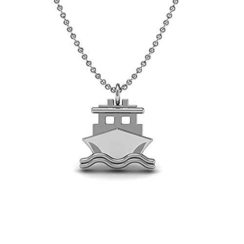 Sailboat Pendant (The Best Sailboat Pendant Necklace, 925 Sterling Silver 18 inch necklace with a Boat, Nautical Shaped Charm Pendant)