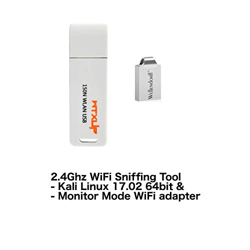 WiFi Packet Sniffer(Kali Linux + 802 11 b/g/n Monitor Mode Adapter)  Alternative to Airpcap, 802 11 Wireless Packet Capture