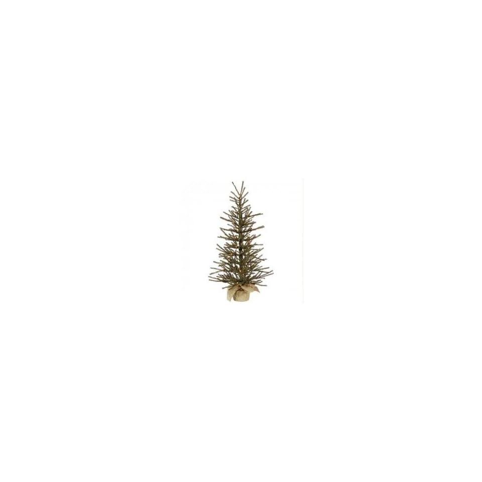 4 Pre Lit Vienna Twig Artificial Christmas Tree in Burlap