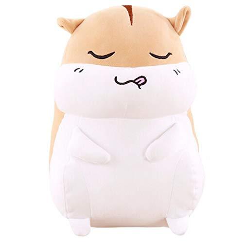 NOWPST Kuscheliges Plüsch Hamster Maus Ratte Kissen Kuscheltiere Plüsch Stofftier Geschenke für Kinder Höhe 60cm braun