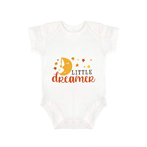 (Promini Cute Baby Onesie Little Dreamer Baby Bodysuit Infant One Piece Baby Romper Best Gift for Baby White)