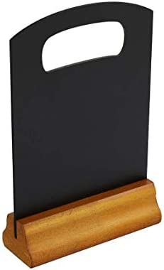 LX Wooden Sign Menu Holder A5 Size Double Sided 150x190mm