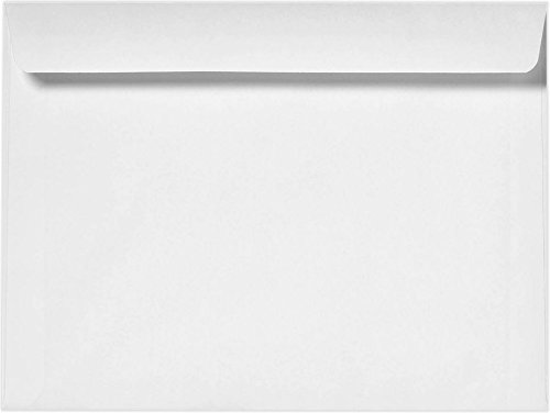 7 x 10 Booklet Envelopes - 24lb. Bright White (50 Qty) | Perfect for Catalogs, Annual Reports, Brochures, Magazines, Invitations | 12237-50