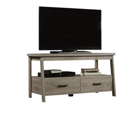 Mainstay* 1 Shelf Storage and 2 Drawer TV Stand for TVs up to 47'' with 2 Drawers in Rustic Oak