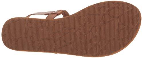 Fashion Volcom Coral Leather T 6 Sandal Chevron Flat Synthetic Strap Women's Trail rqp8PwrB