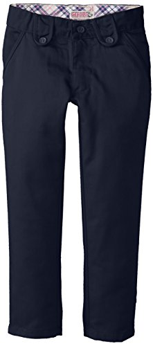 Genuine Little Girls' Twill Pant (More Styles Available), Skinny Navy-SMJB, 4 (Slim Girls Flat Front)