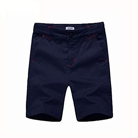 Flat Front Shorts with Adjustable Waist,Chino Shorts for Boys 5-14 Years,6 Colors to Choose KID1234 Boys Shorts