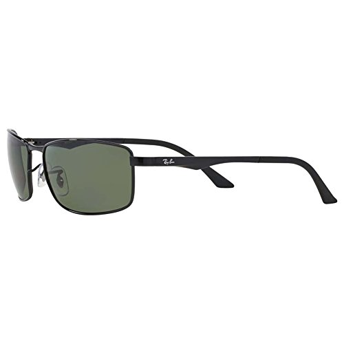 10d8ee25ec Amazon.com  Ray-Ban Sunglasses - RB3498   Frame  Black Lens  Green  Clothing