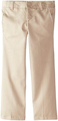 French Toast Big Girls' Adjustable Waist Flat Front Bootcut Pant, Khaki, (Adjustable Waist Khaki)