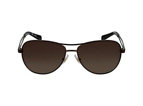 Ralph by Ralph Lauren Women's RA4116 Sunglasses Gold / Black / Brown Mirror 60mm & Cleaning Kit - Mirror Ralph Lauren