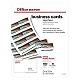 Office Depot Matte Business Cards, 2in. x 3 1/2in, White, Pack Of 1,000, 23003