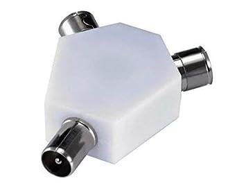 2 way divisor coaxial para antena de televisión – y doble de Ariel de adaptador convertidor