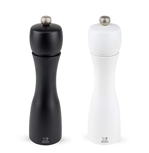 Peugeot Tahiti 8 Inch Black Pepper Mill and White Salt Mill Set
