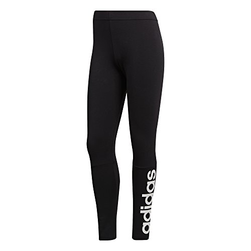 adidas Women's Athletics Essential Linear Tights, Black/White, Large