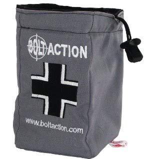 - GameCraft Miniatures Bolt Action: German Army Dice Bag & Order Dice (Grey)